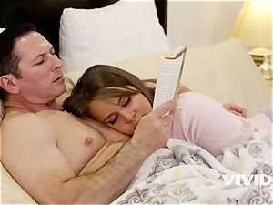 petite breasted Liza Rowe need A penetrate Before bed Time