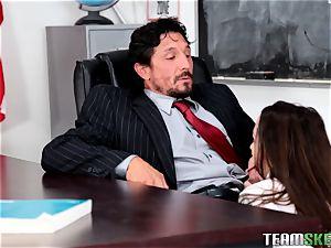 Nikki Next plows her schoolteacher