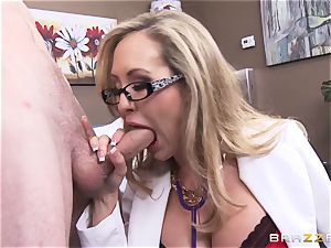 Rock hard patient gets pulverized by doc Brandi love