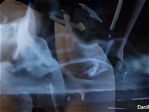 Smoking super-fucking-hot solo vignette with dark-haired stunner Dani Daniels