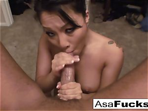 Asa gives an amazing deep facehole oral job