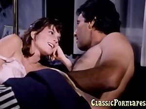 busty female gets banged stiff in retro porno