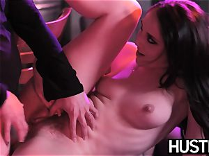 Succubi Nickey Huntsman doggystyled on bar stool