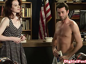small Stoya in pantyhose snatch gobbled and banged