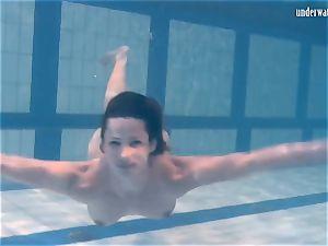 Ivetta having joy in the pool