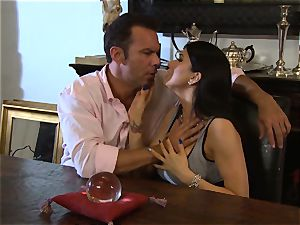 Romi Rain is thanked with a meaty pecker pulverizing