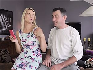 DADDY4K. dad and young female enjoy assfuck hookup near his sleeping son