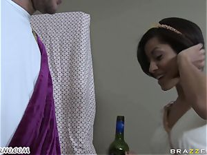 tipsy Greek sweetie takes man-meat of her new bf