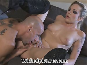 Rampant role play for Bailey Blue and a steaming guy