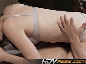 towheaded blow nailing Jessie Andrews cum-shot