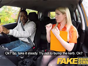 fake Driving college lengthy black cock pleases blonde