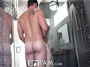 SPYFAM Step sista bathroom poked By Step bro