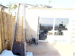 Chopper watches Jennifer white as she pounds