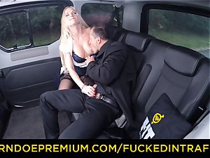 plumbed IN TRAFFIC - handsome light-haired plowed in backseat