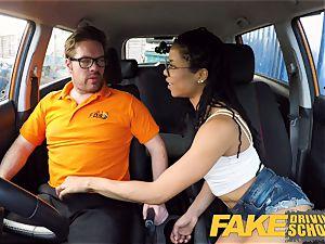 fake Driving college dark-hued yankee minx Kira Noir