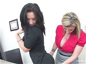 Jayden Jaymes satisfies her stud huge-titted chief Sara Jay