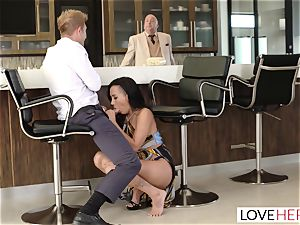 LoveHerFeet - Sneaky cuckold foot orgy With The Realtor