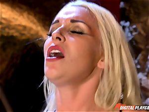 inviting blondie Stevie Shae getting into ball-sac deep distress