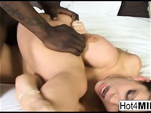 Sara Jay receives a massive dark-hued sausage