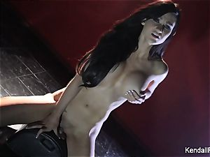Kendall Karson taunts and rails the sybian saddle