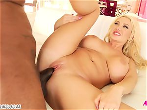 molten fat hooter cougar Summer Brielle riding black pipe