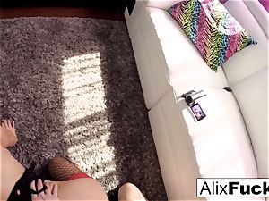 prostitute Alix gets boinked and filmed by a kinky customer