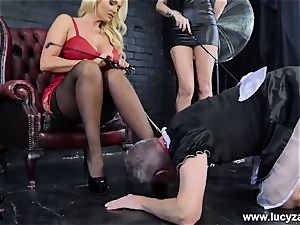 mistress Lucy Zara Lilly Roma whip abase sissy maid