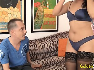 older asian doll fortunate starlet drilled by milky dude