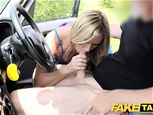 faux cab Mum with all-natural mounds gets large british penis