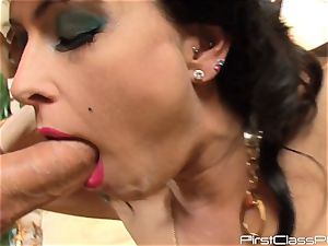 vintage lollipop licking brown-haired sweetheart Jessica Jaymes
