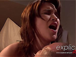 French erotic goddess lea torn up hasty and rock-hard in the bum