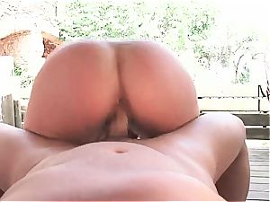 scorching Latina ultra-kinky for a superb manmeat inwards by the pool