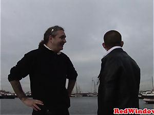 Real dutch call girl treating tourist