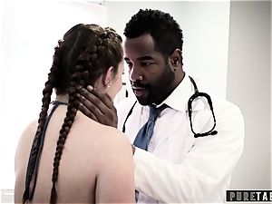 Maddy O'Reilly Exploited into big black cock ass-fuck at Doctors examination