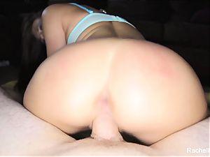 pov romp with pornographic star Rachel Roxx