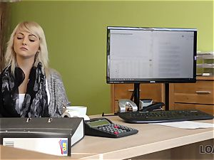 LOAN4K. Blonde-haired miss gets sissy nailed rigid in loan porn video