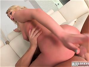 Army dame enjoys to take his super hot load of spunk inwards