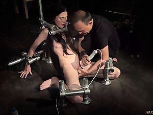 restrain bondage nubile in rigid bondage & discipline punishment horny behaviour