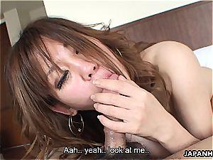 Manami loves the way the jizz-shotgun feels in her