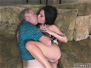 old dude plumb nubile hd and studs piss on Frannkie s a hasty learner!