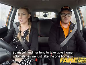 faux Driving school huge-titted ash-blonde Georgie Lyall