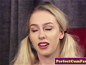 buxomy cum therapist breast banging for facial cumshot