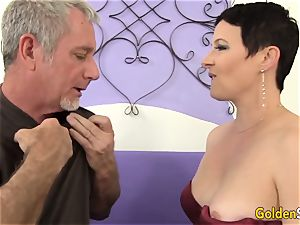 Mature breezy entices a gigantic Dicked stud